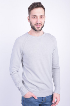 Pulover JACK&JONES Jprgavin Knit Crew Neck Light Grey Melange