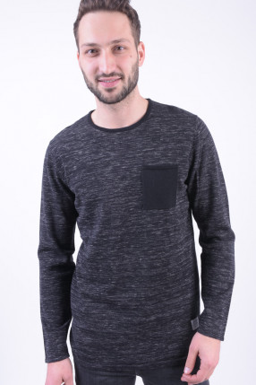 Pulover JACK&JONES Jcoiowa Knit Crew Neck Black