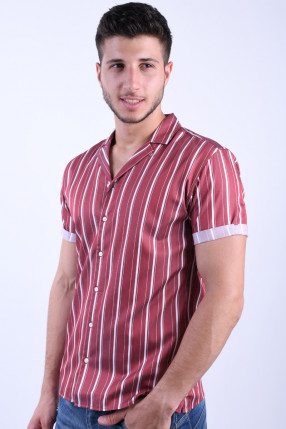 Camasa JACK&JONES Stripe Resort Burnt Russet