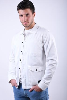 Geaca JACK&JONES Caleb Overshirt White