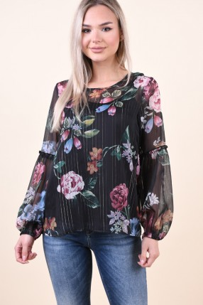 Bluza Florala OBJECT Ana Negru