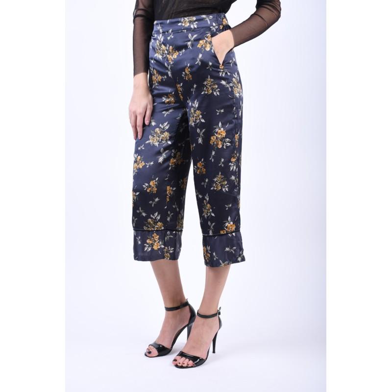 Pantaloni Florali Object Millenium Culotte Bleumarin