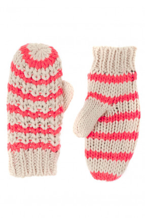 Manusi PIECES Bellis Mittens Neon Peach