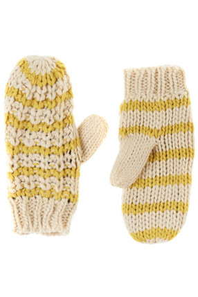 Manusi PIECES Bellis Mittens Goldcolor