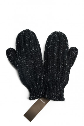 Manusi PIECES Somir Mittens Lurex Lurex / Black