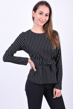 Bluza PIECES Oriak Tie Negru