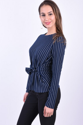 Bluza PIECES Oriak Tie Bleumarin