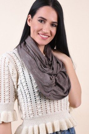 Esarfa PIECES Dysis Tube Scarf Hemp Sand