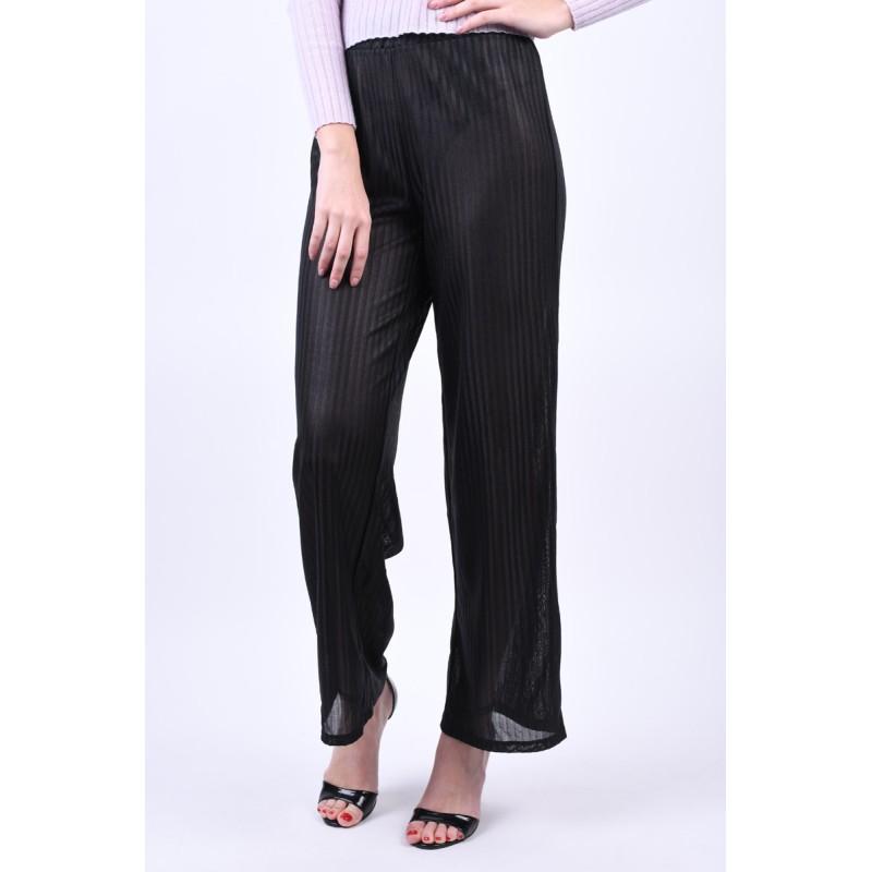 Pantaloni Pieces Jay Mw Wide Black