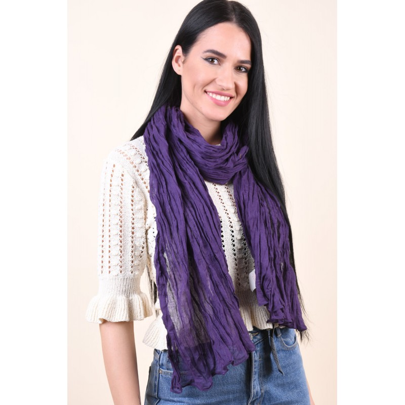 Esarfa Dama Pieces Jaqeline Long Scarf Winter Purple