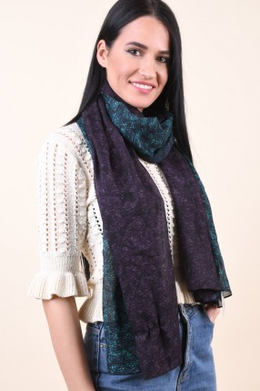 Esarfa PIECES Malu Long Tube Scarf Teal Blue