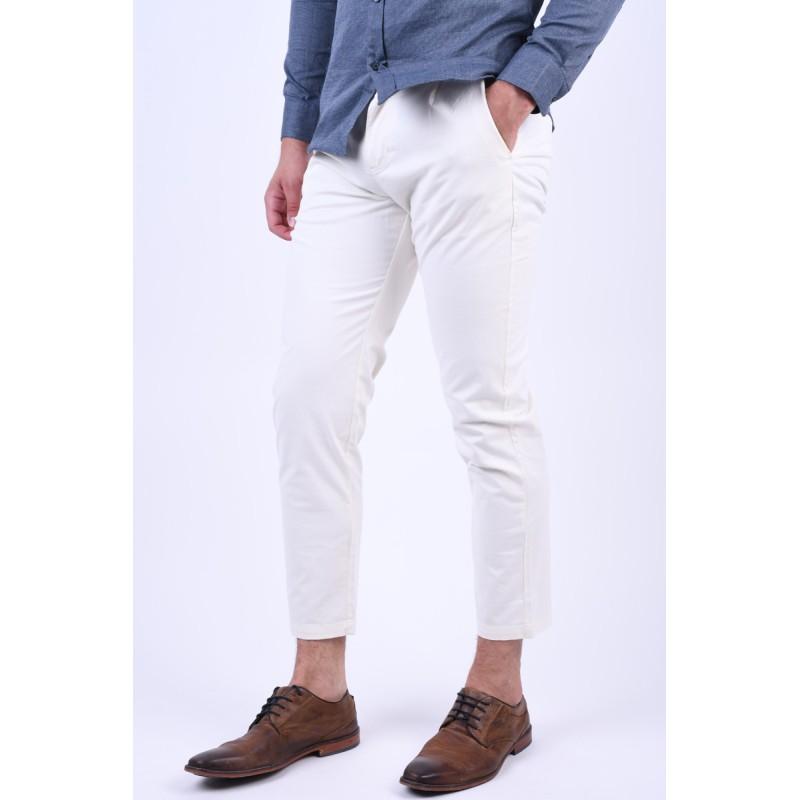 Pantaloni Selected Tapered-Free Egret