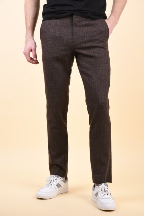 Pantaloni SELECTED Slim-Myloiver Dark Brown Melange