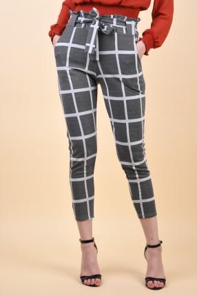 Pantaloni Sister Point Cen-Pa2 Black/Cream Checks