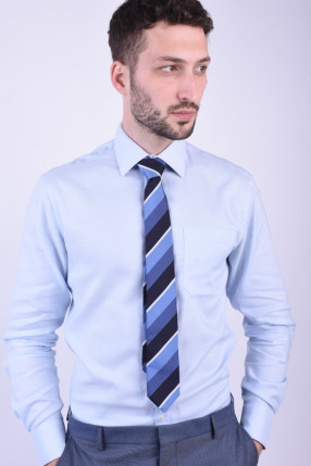 Cravata Tiger T1265-1378 T Bleomarin / Alb / Albastru Deschis