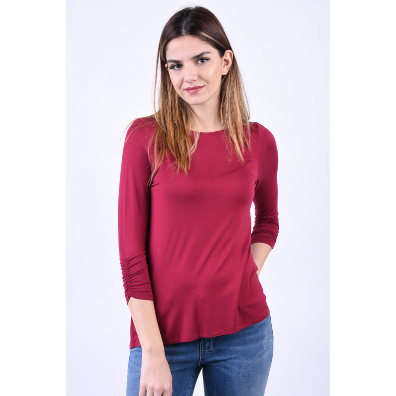 Bluza Vascoza Vero Moda Frida 3/4 Rosu Rozaliu