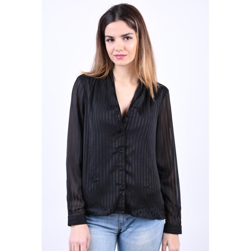 Camasa Vero Moda Doria V-Neck Black