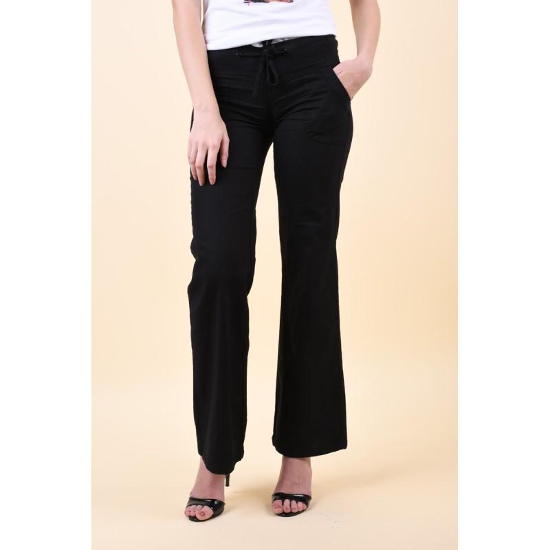 Pantaloni Evazati Vero Moda Timun Rib Negru