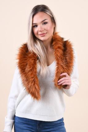 Fular VERO MODA Leticia Faux Fur Burgundy