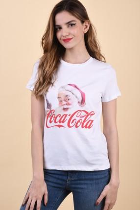 Tricou VERO MODA Christmas License Black/Coca Cola