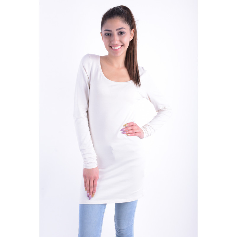 Bluza Lunga Dama Vila Officiel Long Light Grey Melange Pristine