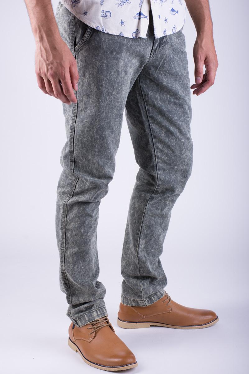Pantaloni Lungi Bumbac Alcott Torstein Slim Fit Kaki