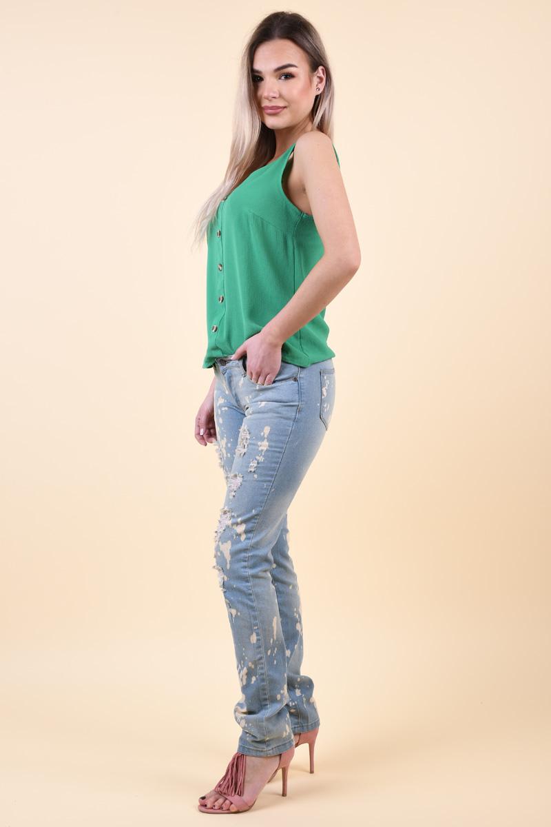 Blugi Taiati CARLING JEANS Jeans Sandra Albastru Deschis