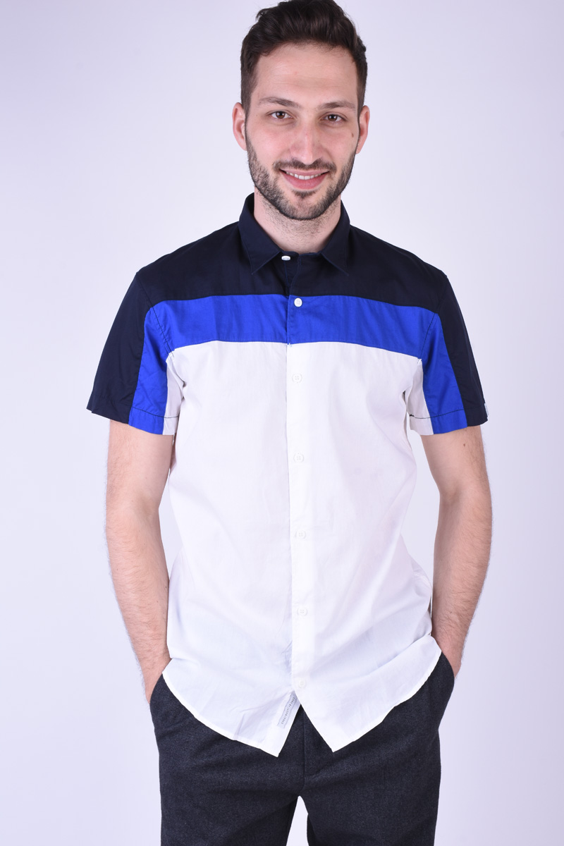 Camasa Maneca Scurta JACK&JONES Jefferson Plain White