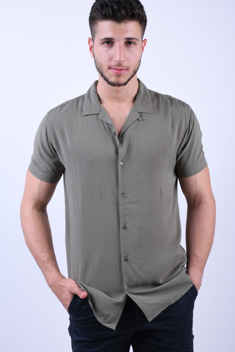 Camasa JACK&JONES Andy Resort Dark Dusty Green
