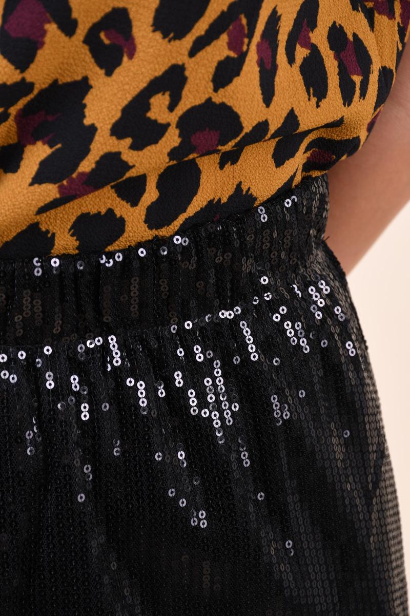 Fusta Midi Jacqueline De Yong Pixie Knee Negru