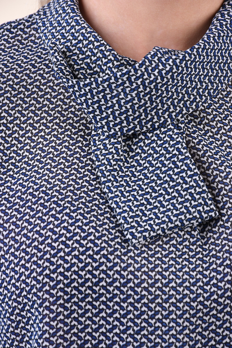 Bluza Picatele Jacqueline De Yong Serena 7/8 Alb Bleumarin