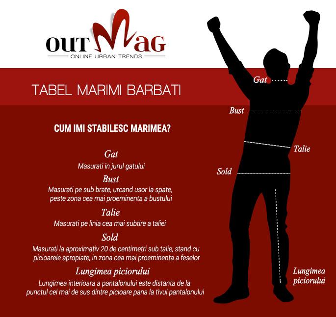Tabel Marimi Barbati Outmag.ro