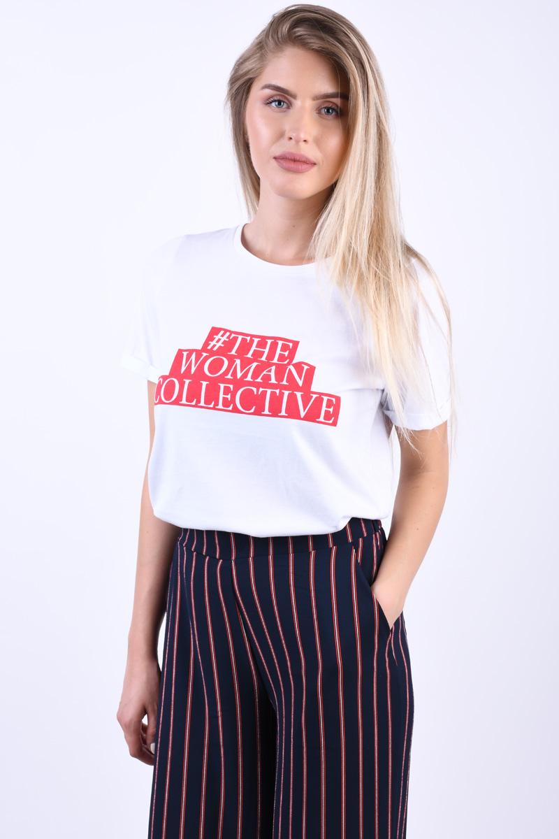 Pantaloni Evazati OBJECT Leonie Dungi Bleumarin