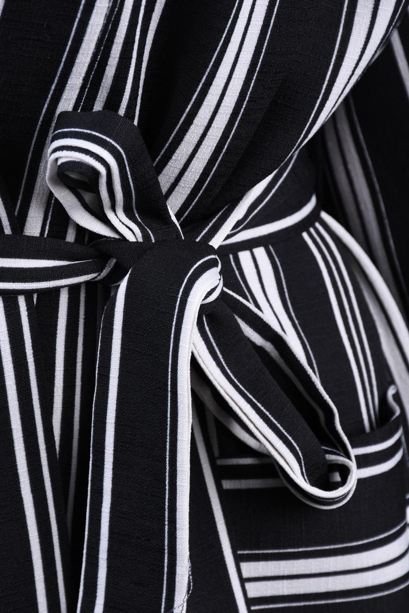Kimono OBJECT Nora 3/4 Dungi Alb Negru
