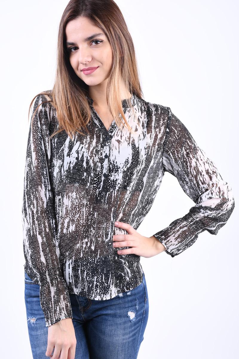 Bluza OBJECT Lisa Negru Alb