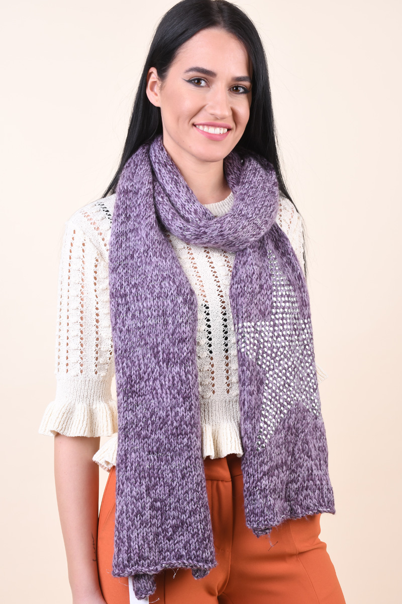 Fular ONLY Scarf With Star Stud Print Lavander