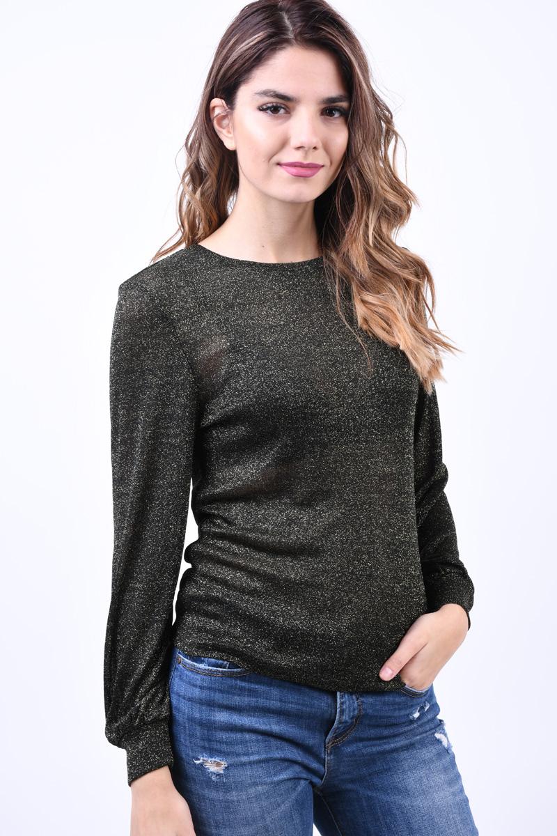 Bluza Eleganta ONLY Carol Negru Auriu