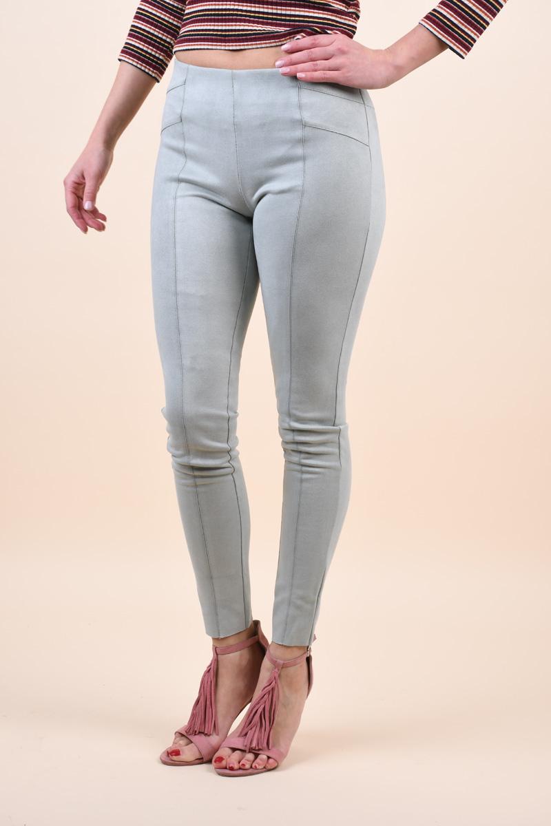 Pantaloni ONLY Tia-Alina Mw Faux Aqua Gray
