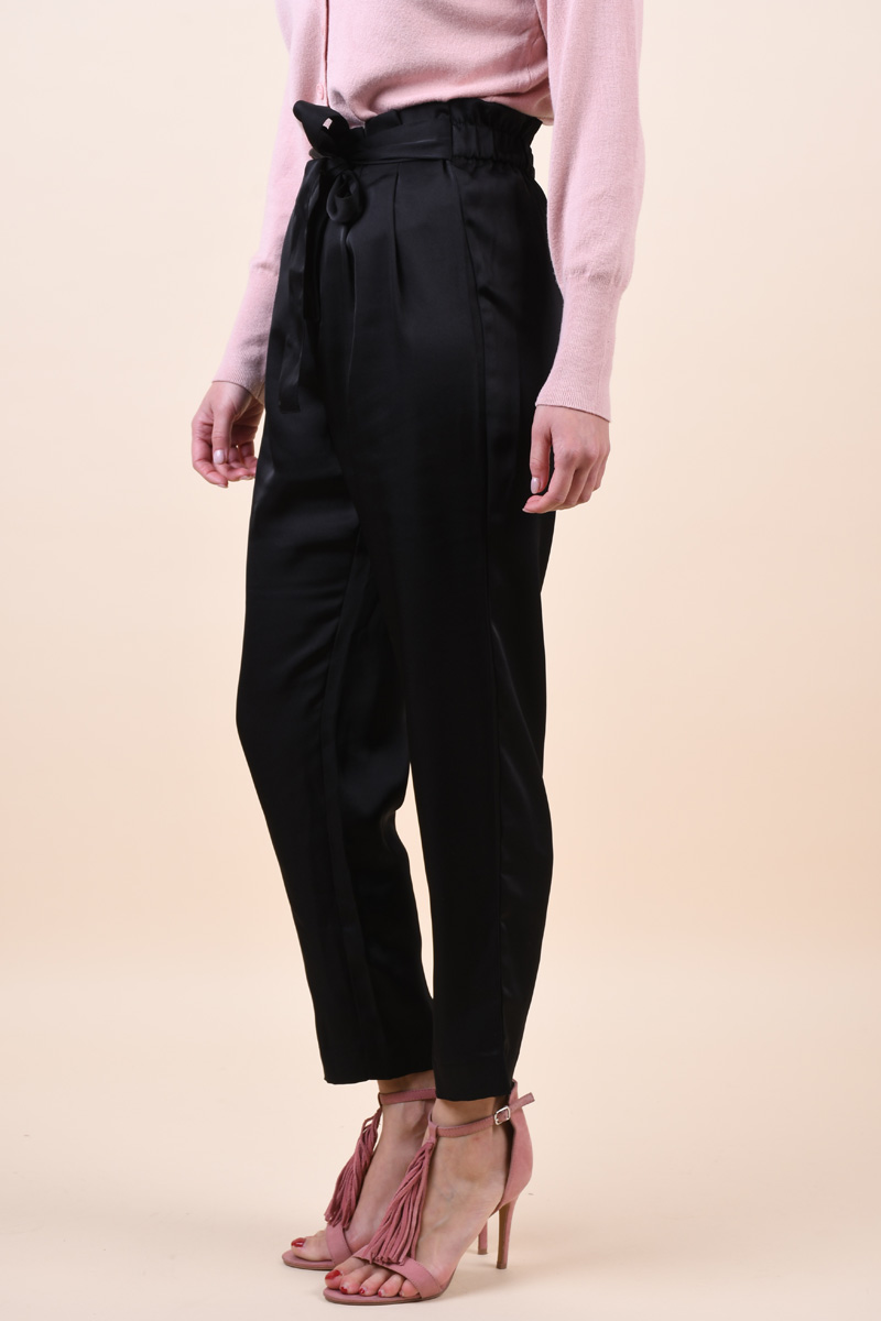 Pantaloni ONLY Mariela Florence Satin Black