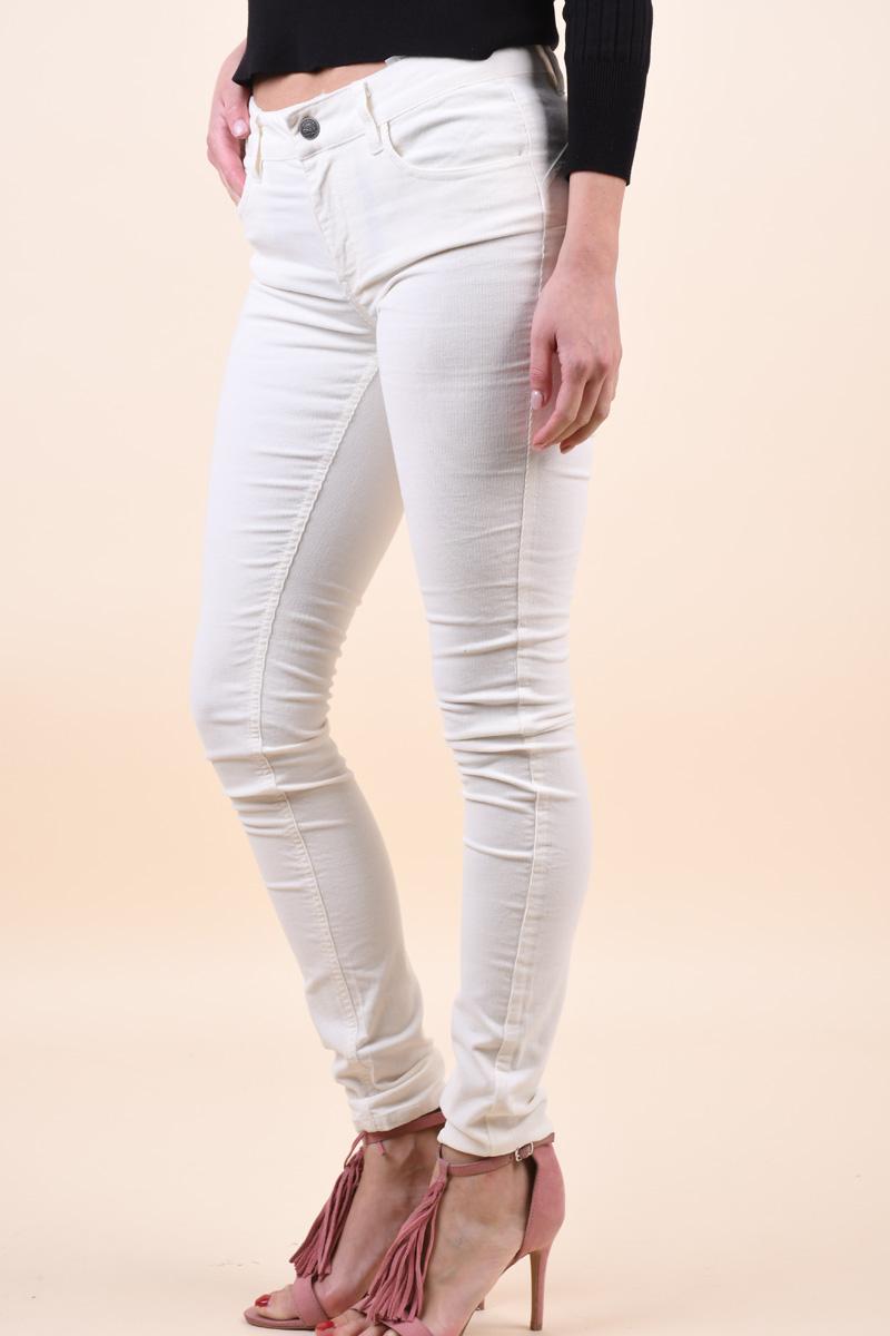 Pantaloni ONLY Ellie Skinny Push Up Egret