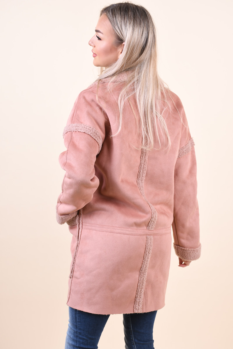 Palton ONLY Felicity Bonded Sherpa Cameo Rose