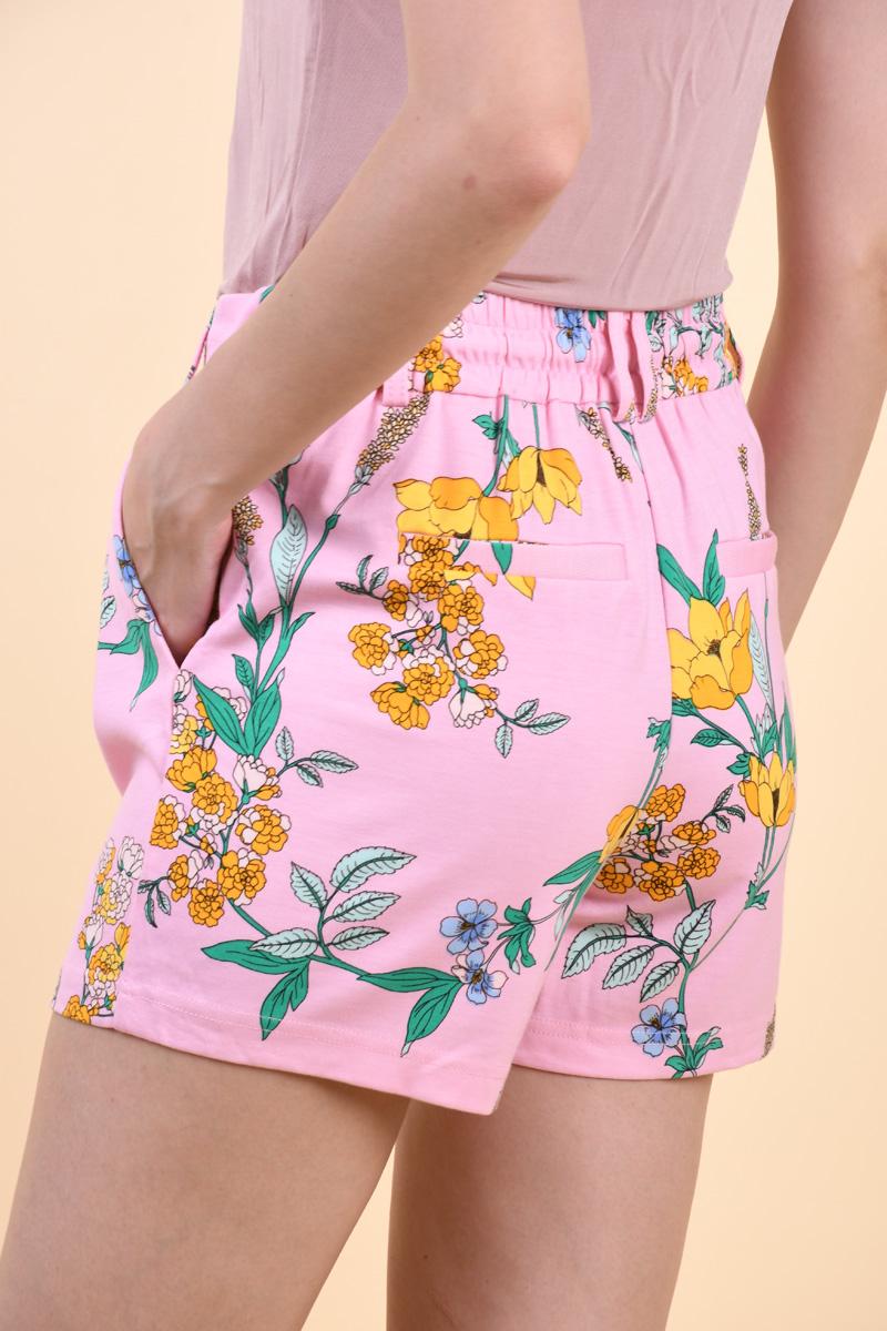 Pantaloni Scurti ONLY Poptrash Easy Pink Mist Aop