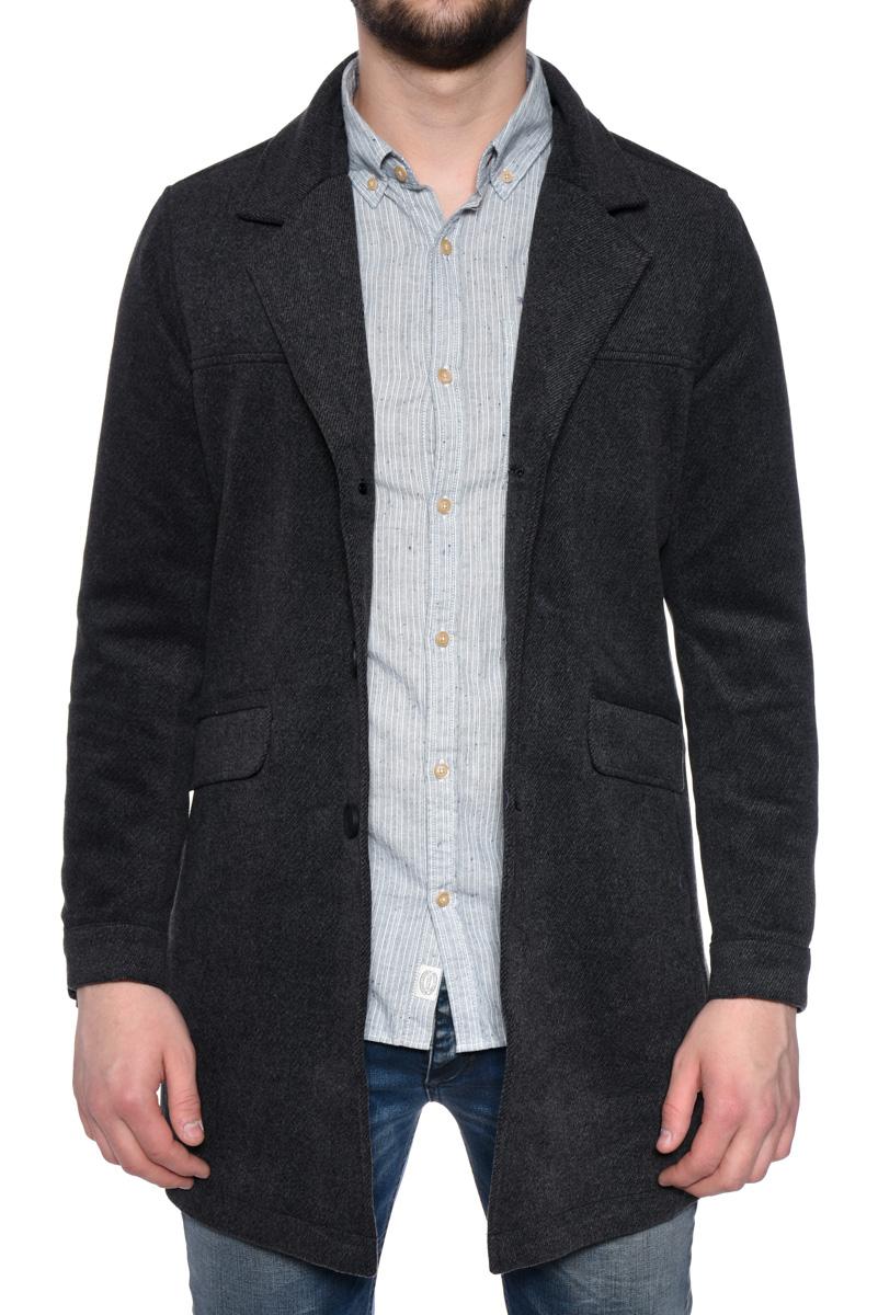 Palton Lung Lana Cu Nasturi ONLY&Sons Abel Coat Frost Gri