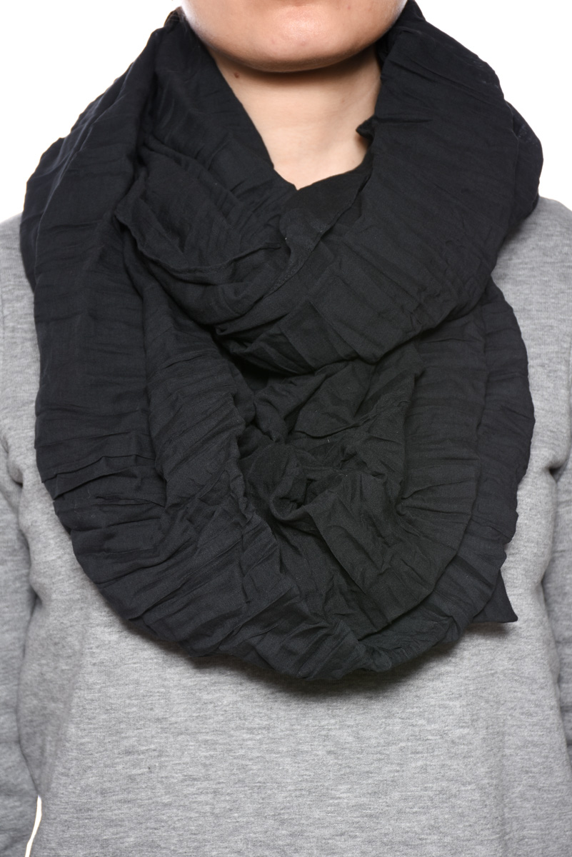 Esarfa PIECES Mystic Tube Scarf Black