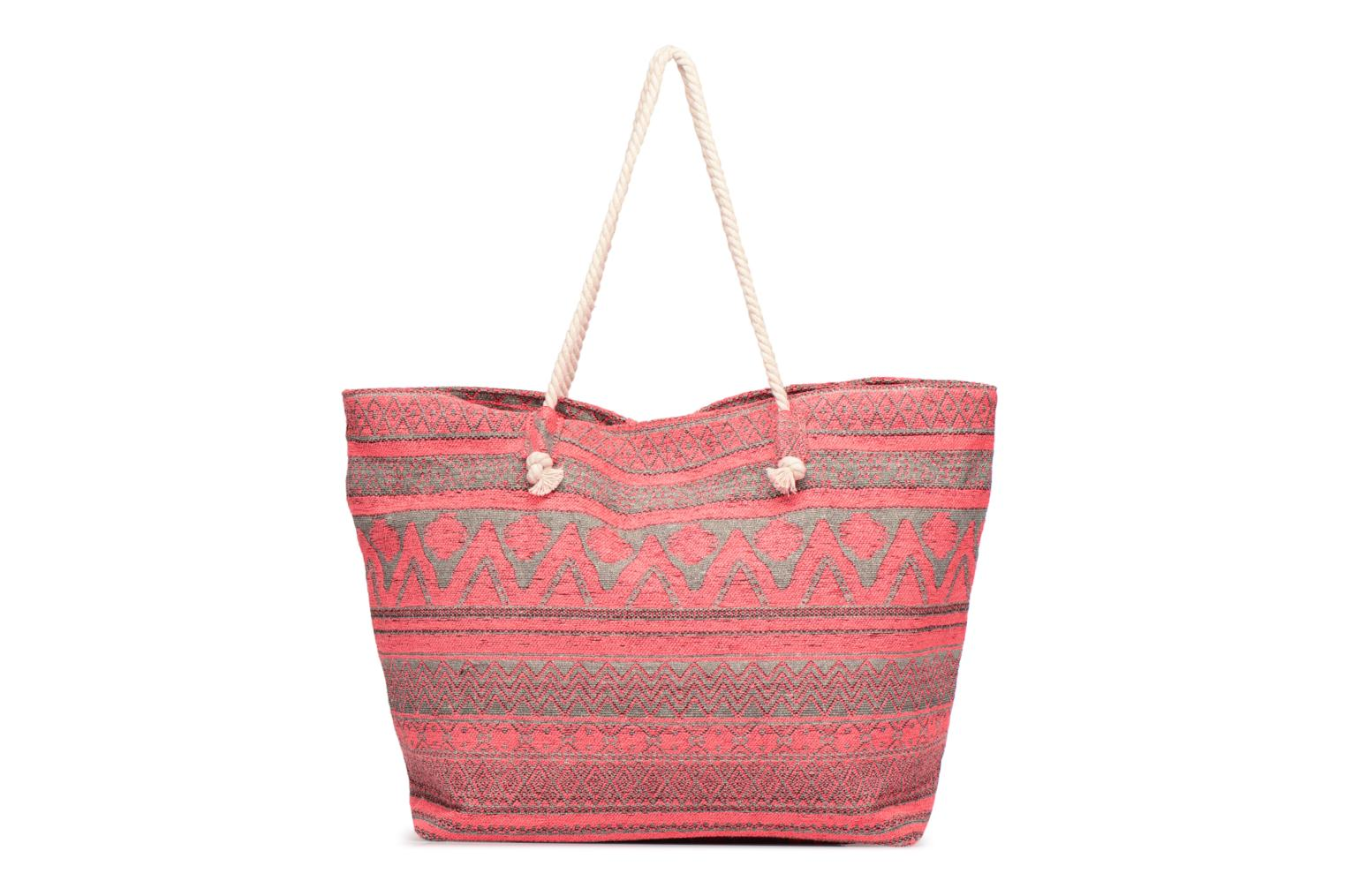 Poseta PIECES Grage Canvas Shopper Coral