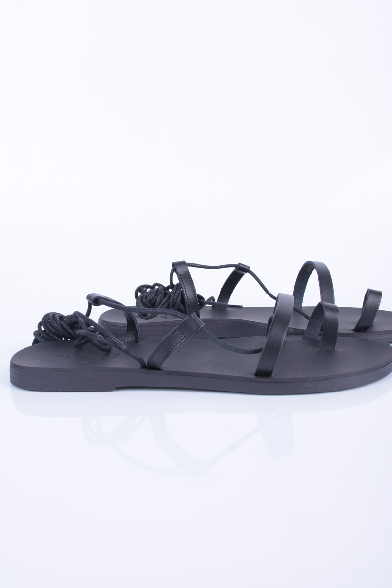 Sandale Piele PIECES Mathilda Beach Negru
