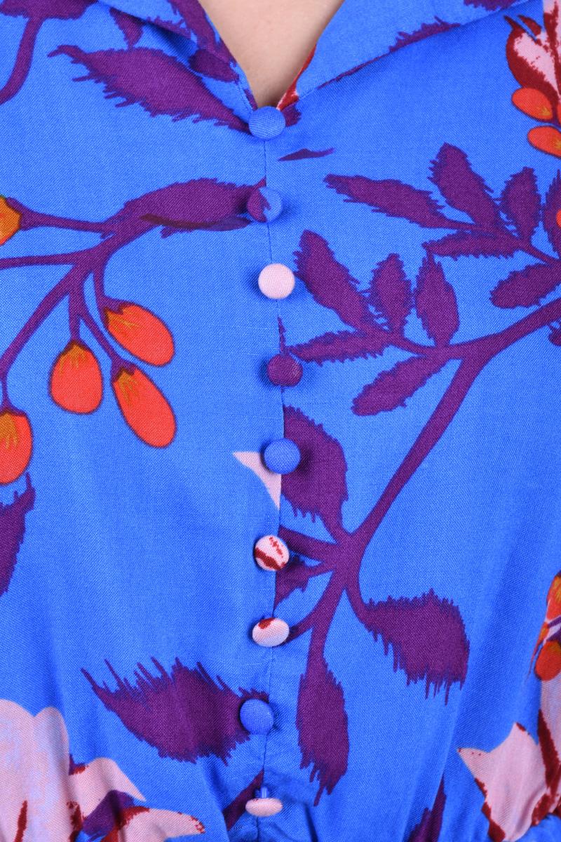 Bluza Florala PIECES Rinna Flowers Albastru