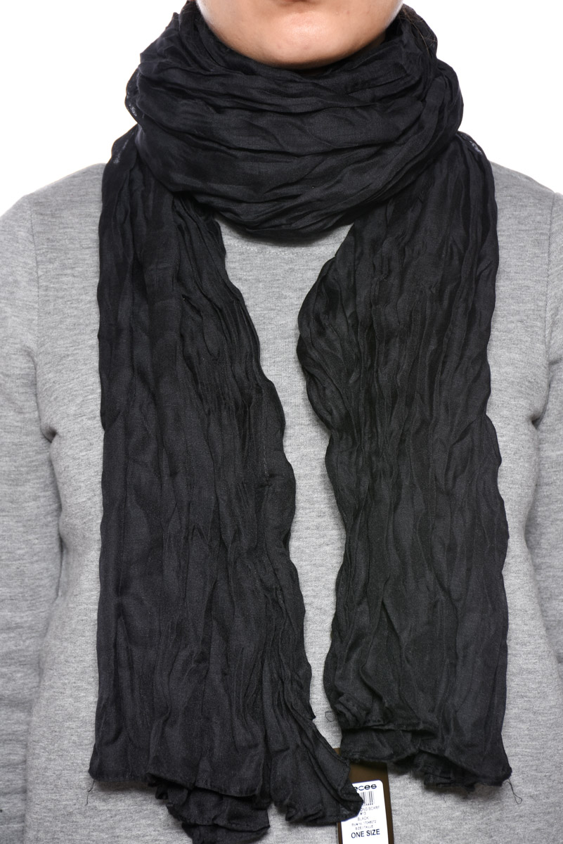 Esarfa PIECES Mystic Long Scarf Negru
