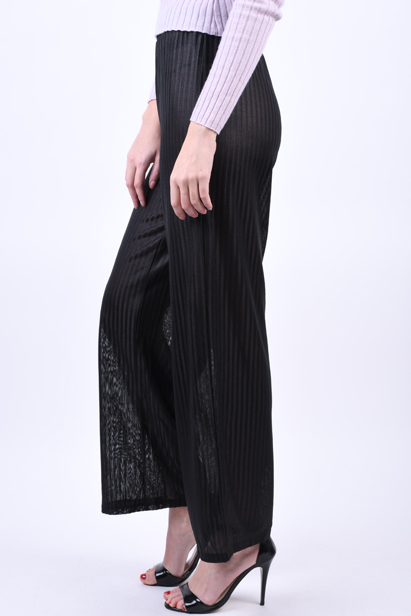 Pantaloni PIECES Jay Mw Wide Black