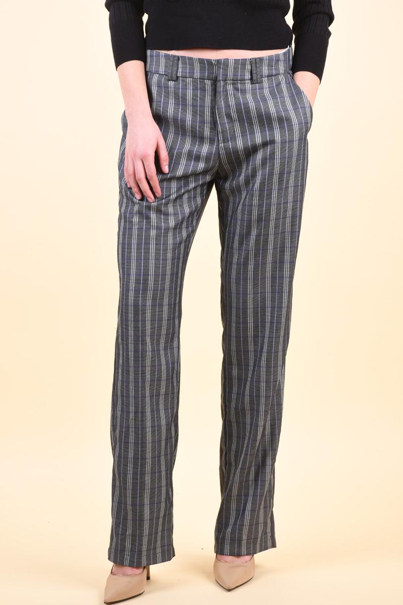 Pantaloni PIECES Binda Black Checks English Lavander